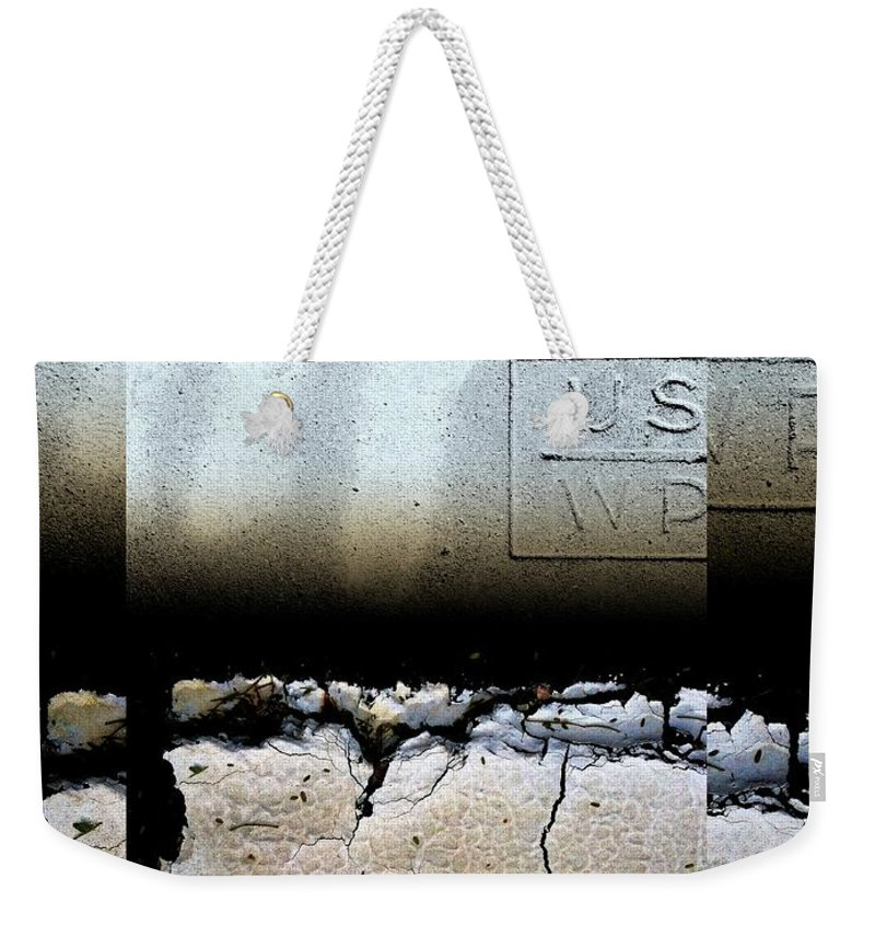 Urban Abstracts Weekender Tote Bag featuring the photograph Urban Abstracts Seeing Double 19 by Marlene Burns