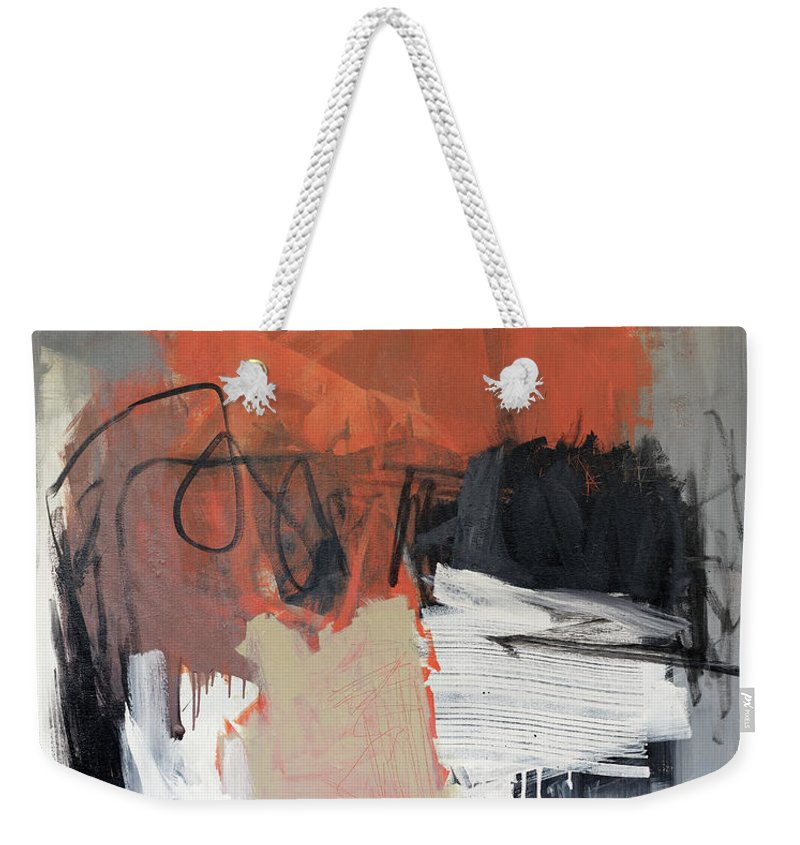 Abstract Expressionist Painting Weekender Tote Bag featuring the painting Urban Apocalypse by James Hudek