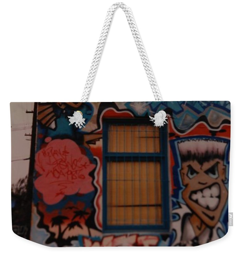 Urban Weekender Tote Bag featuring the photograph Urban Art by Rob Hans