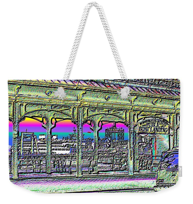 Seattle Weekender Tote Bag featuring the photograph Urban Boat Landing by Tim Allen
