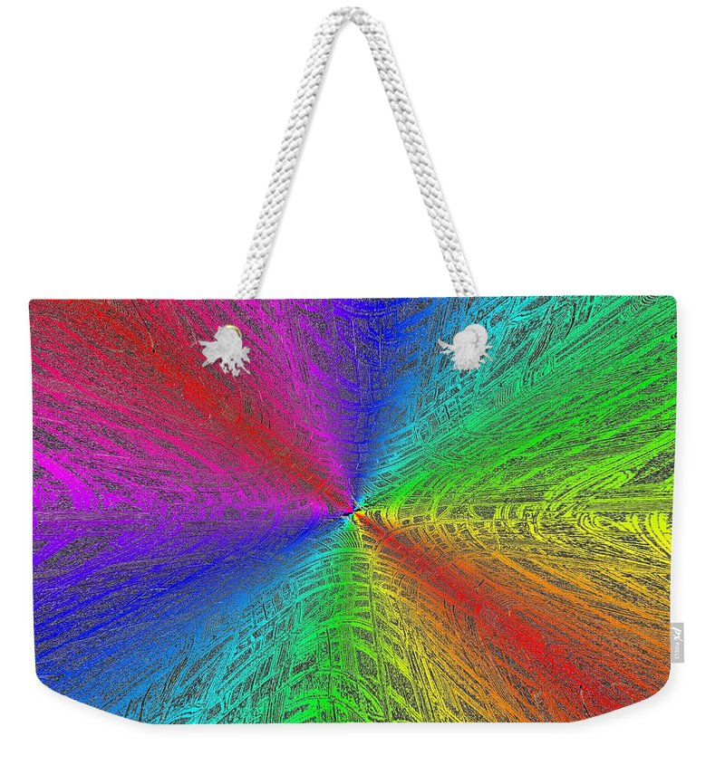 Abstract Weekender Tote Bag featuring the digital art Urban Colorful by Tim Allen