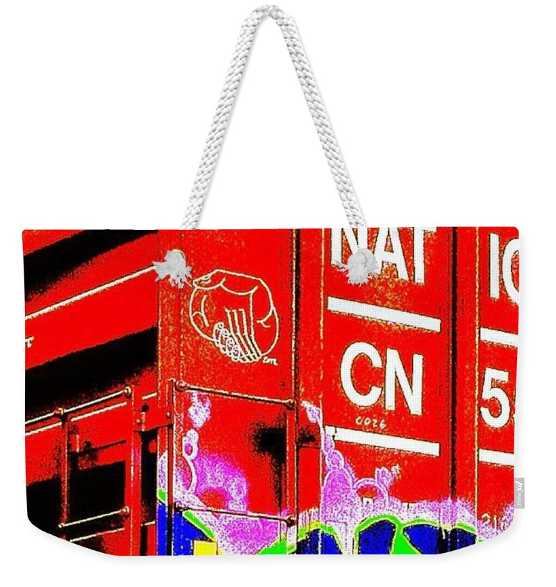 Memorial Weekender Tote Bag featuring the photograph Urban Mobile Art Installation by Nick Heap