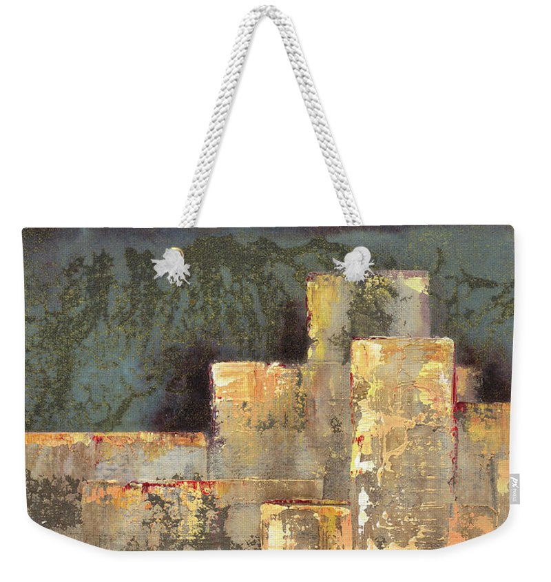 Linear Weekender Tote Bags