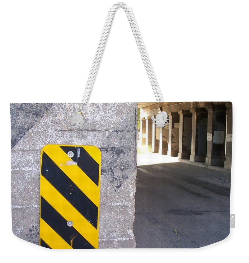 Signs Weekender Tote Bag featuring the photograph Urban Signs 2 by Anita Burgermeister