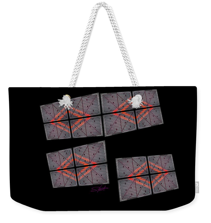 Black Weekender Tote Bag featuring the photograph Urban Space by Charles Stuart