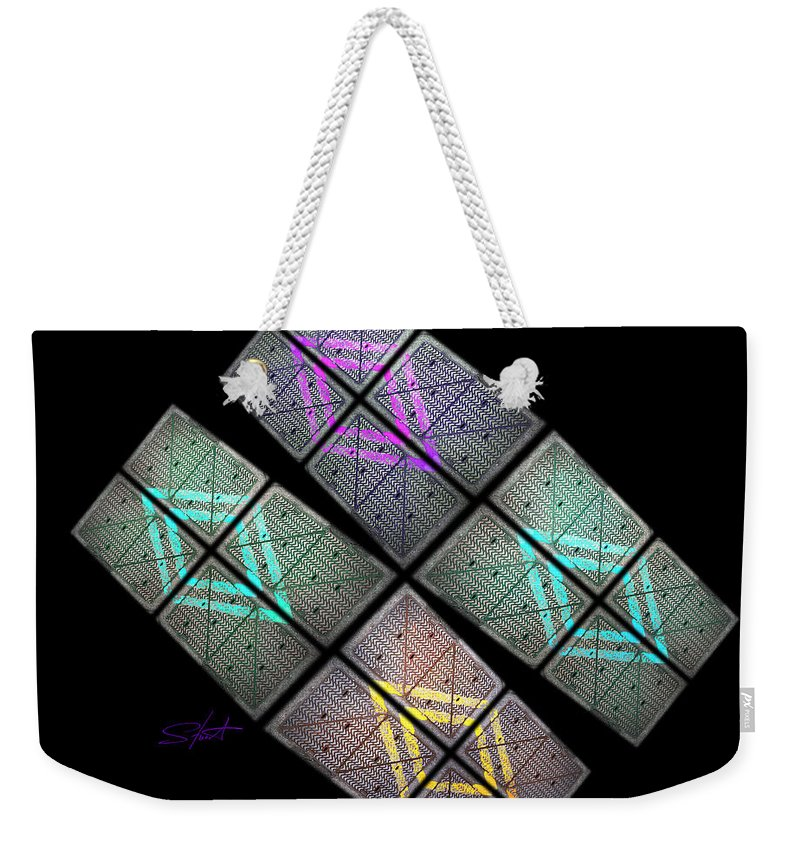 Science Fiction Weekender Tote Bag featuring the photograph Urban Space Station by Charles Stuart