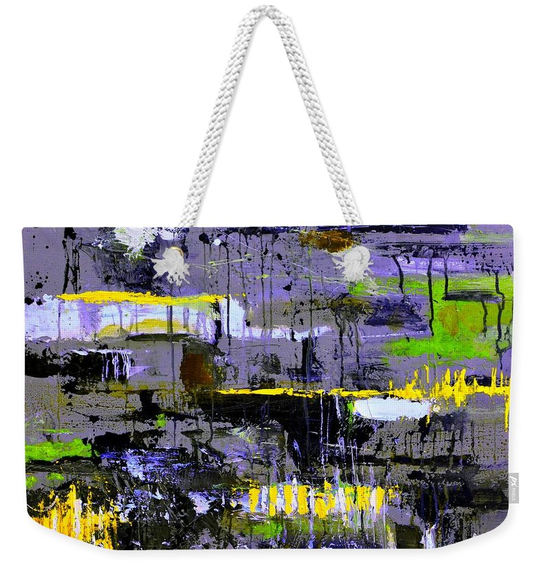 Abstract Weekender Tote Bag featuring the painting Urban Transport by Pol Ledent