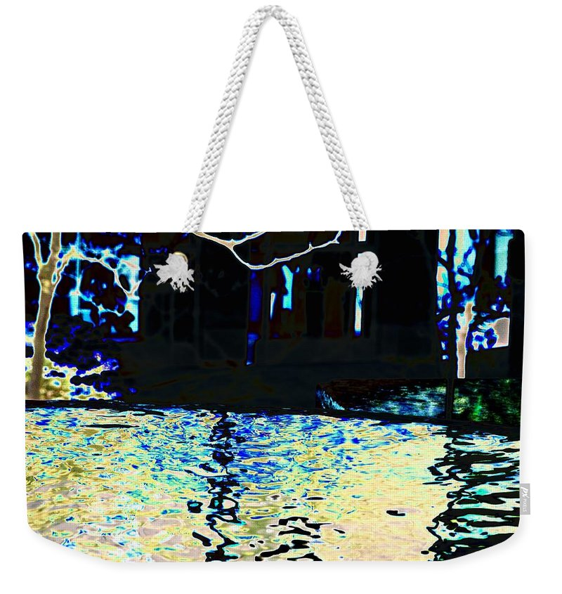 Seattle Weekender Tote Bag featuring the photograph Urban Waterfall by Tim Allen