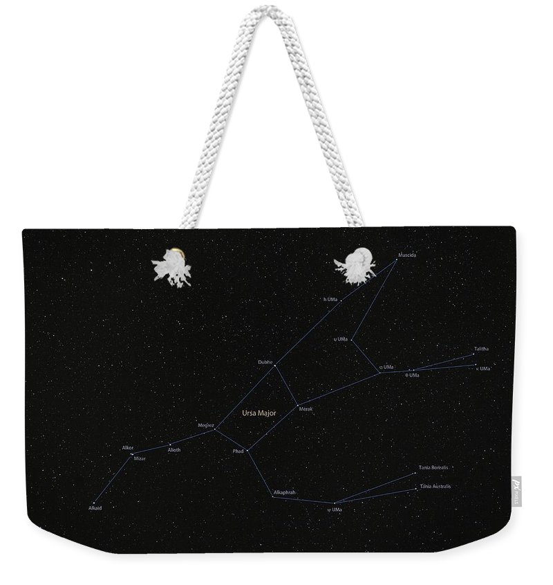 Big Bear Weekender Tote Bag featuring the photograph Ursa Major Constellation by Lukasz Szczepanski