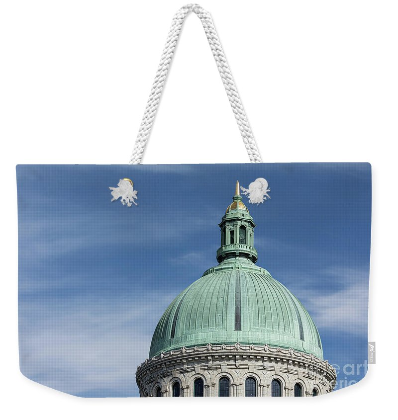 Academy Weekender Tote Bag featuring the photograph U.s. Naval Academy Chapel Dome by Jerry Fornarotto