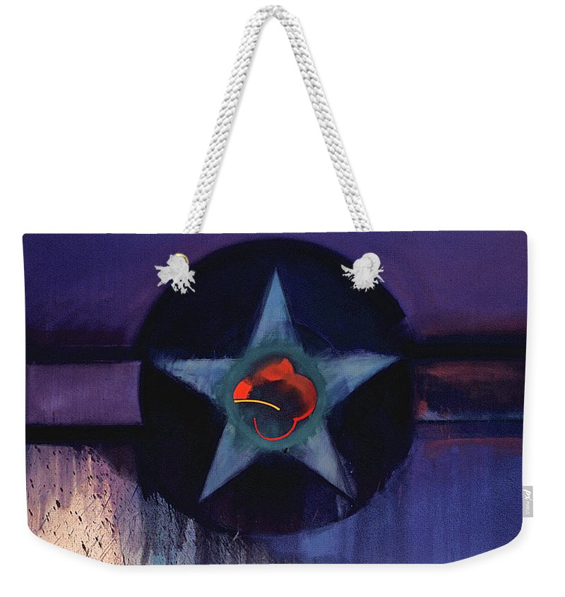 Usaaf Insignia Weekender Tote Bag featuring the painting USAAF Lilac by Charles Stuart