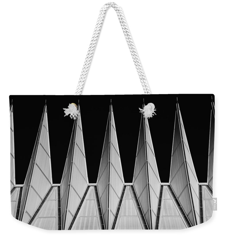United States Air Force Academy Weekender Tote Bag featuring the photograph U. S. A. F. Academy Cadet Chapel Detail by Rand
