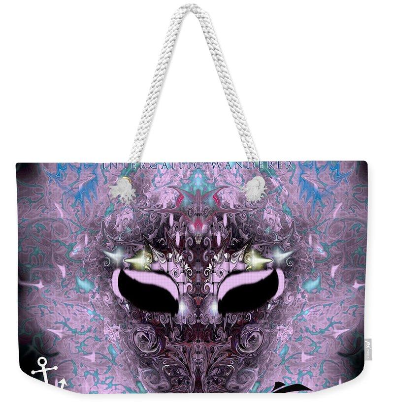 Weekender Tote Bag featuring the digital art Uso ? by Subbora Jackson