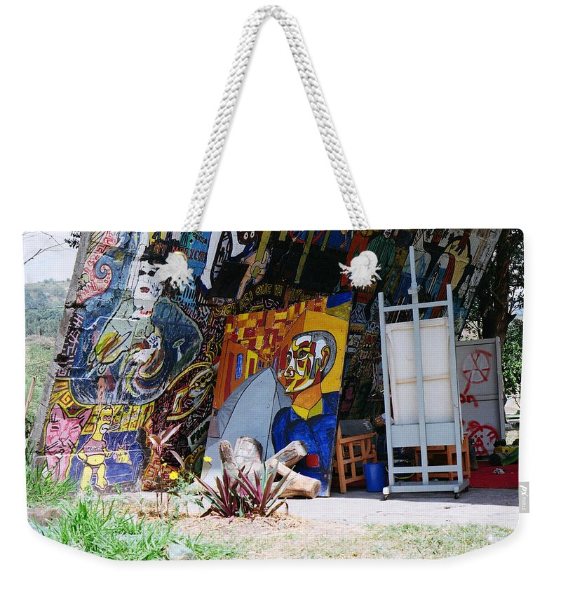 Student Weekender Tote Bag featuring the photograph Ustudio by David Cardona