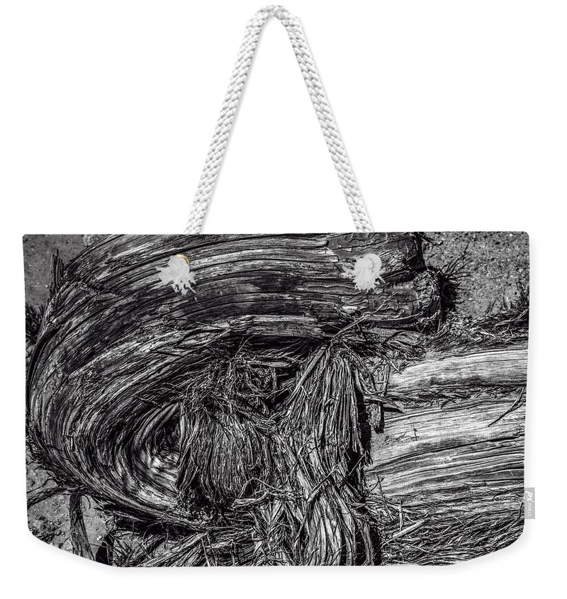 Pictorial Weekender Tote Bag featuring the photograph Utah Juniper Remains by Roger Passman