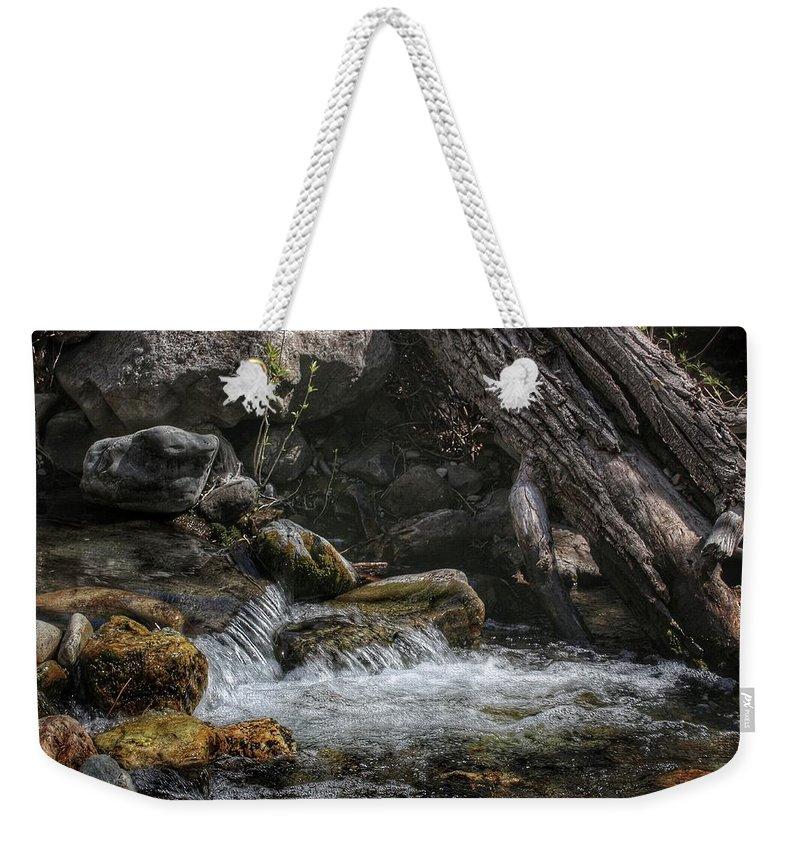 Stream Weekender Tote Bag featuring the photograph Utah Stream by Buck Buchanan