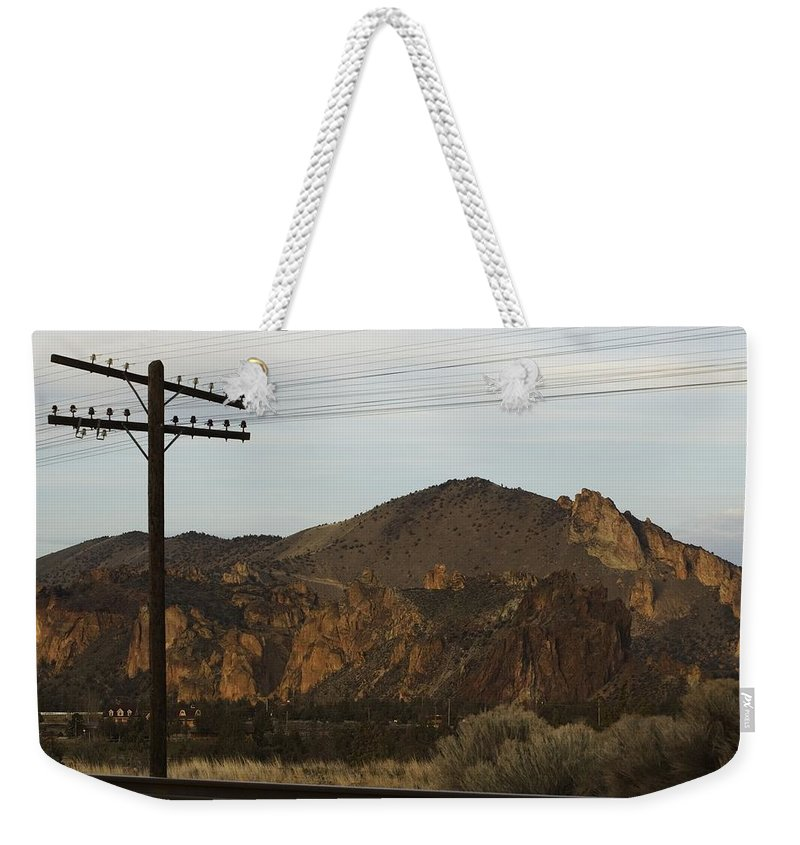 Smith Rock Weekender Tote Bag featuring the photograph Utility Pole by Sara Stevenson
