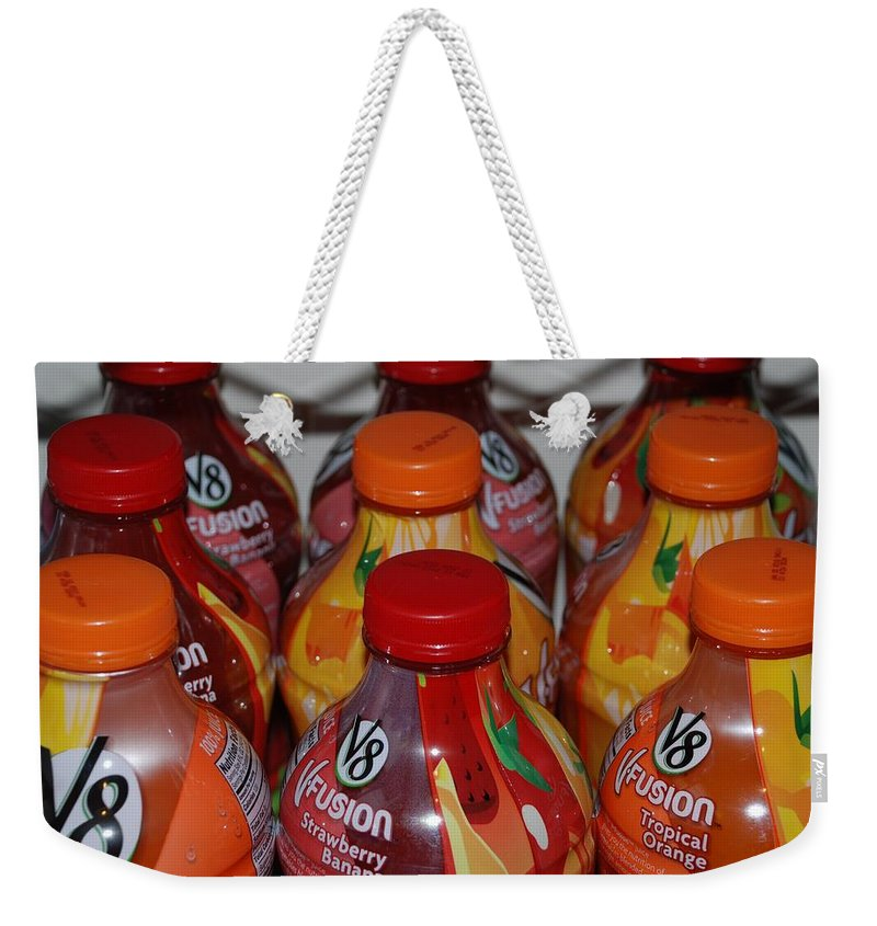 V8 Weekender Tote Bag featuring the photograph V8 Fusion by Rob Hans