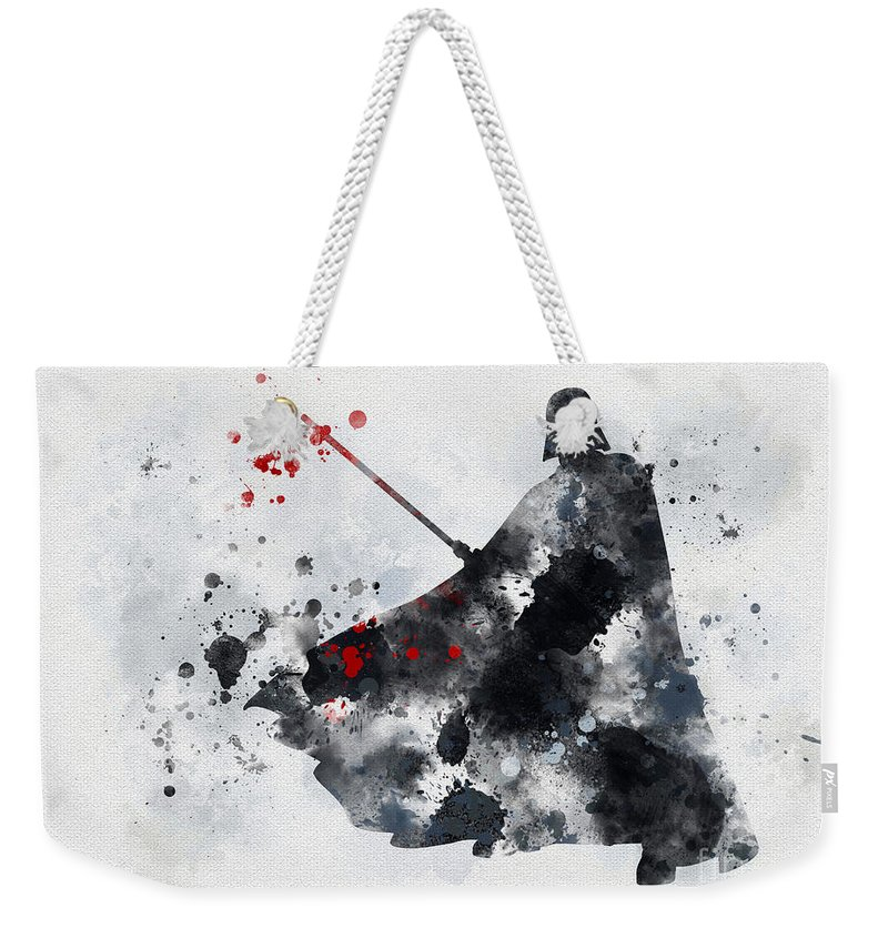 Star Wars Weekender Tote Bag featuring the mixed media Vader by My Inspiration