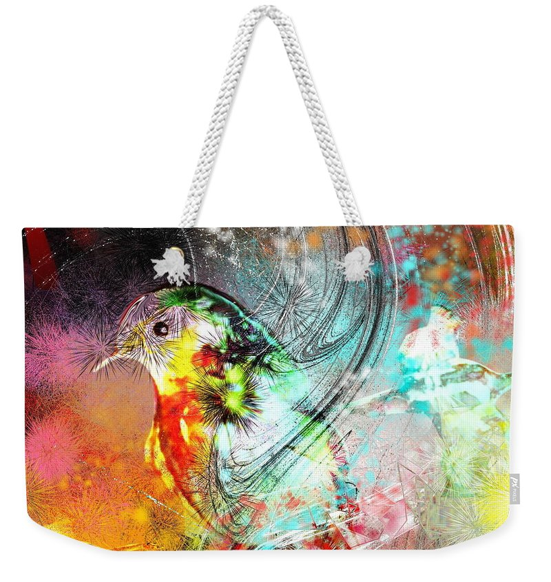Bird Weekender Tote Bag featuring the painting Vagabond by Miki De Goodaboom