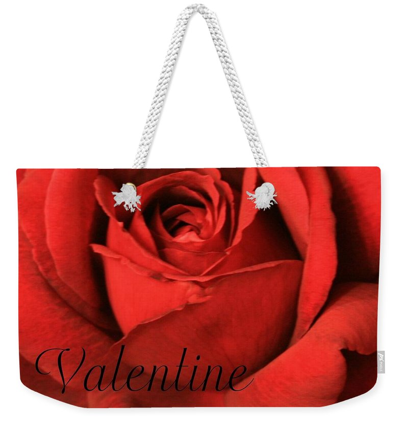 I Love You Weekender Tote Bag featuring the photograph Valentine by Marna Edwards Flavell