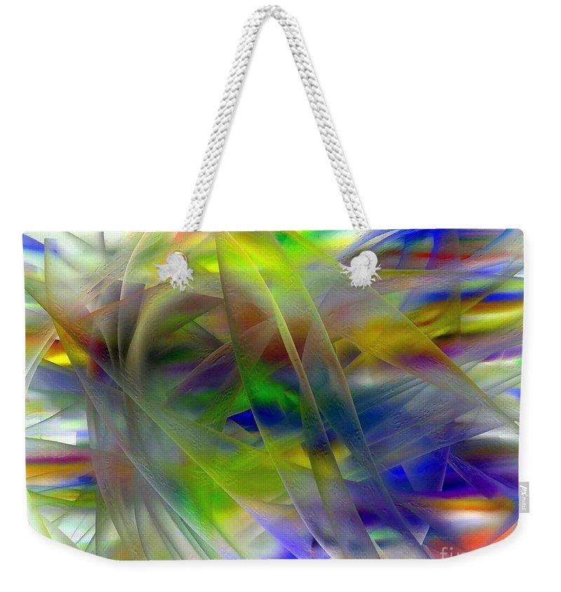 Veils Weekender Tote Bag featuring the digital art Veils Of Color 2 by Greg Moores