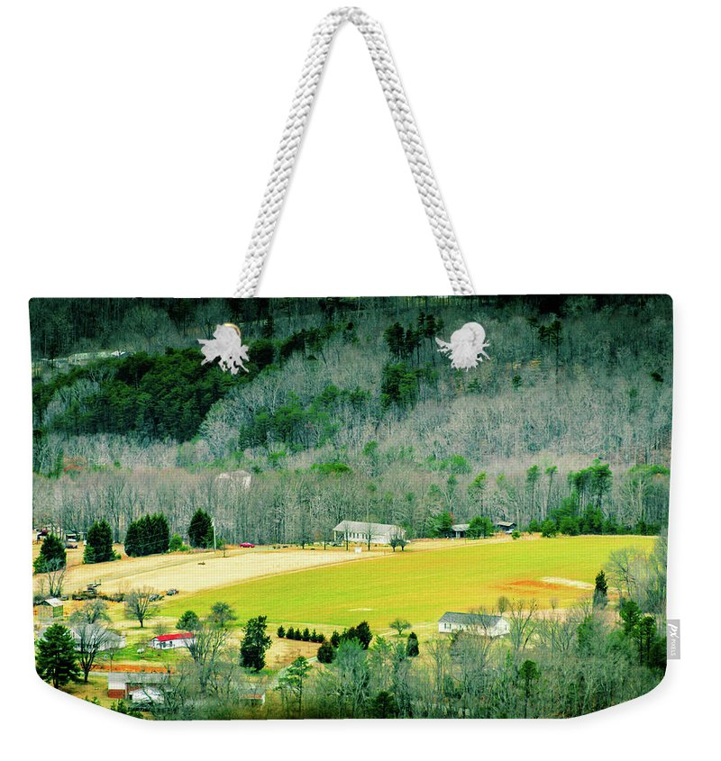 2015 Weekender Tote Bag featuring the photograph Valley Below by Vickie Washington