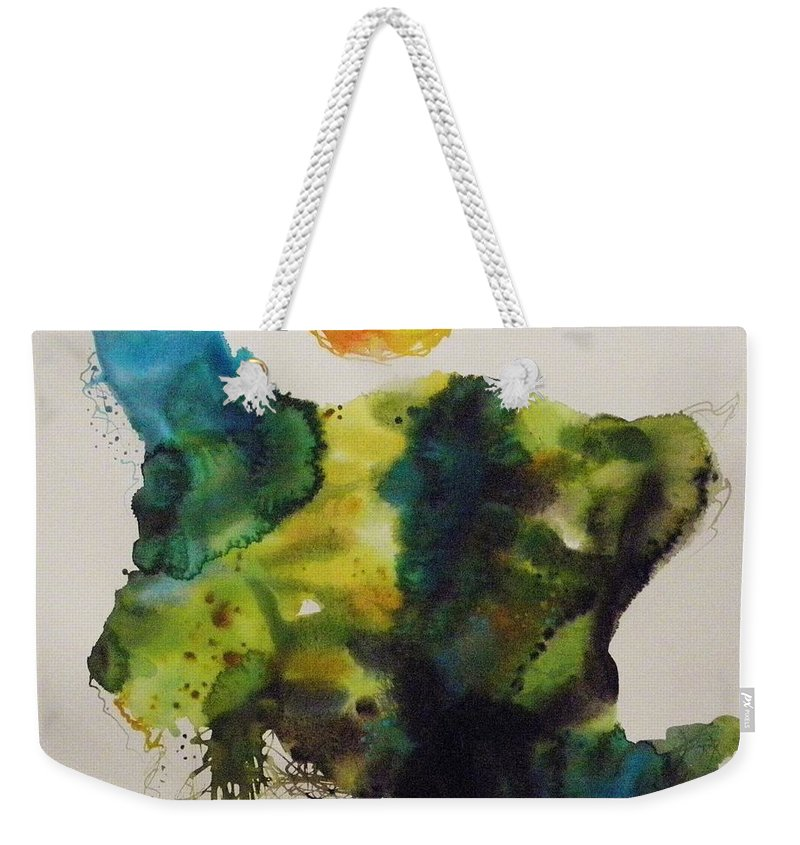 Valley Farmland Weekender Tote Bag featuring the painting Valley Farmland by John Williams