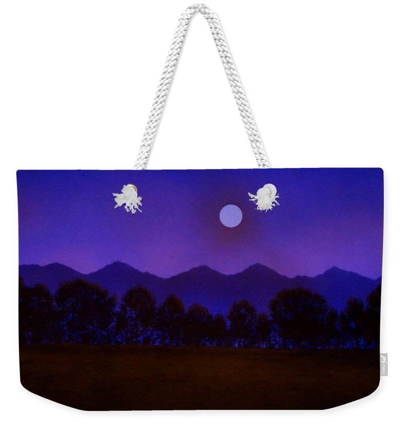 Night Weekender Tote Bag featuring the painting Valley Light by Frank Wilson