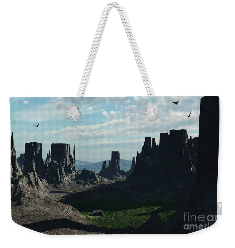 Valley Weekender Tote Bag featuring the digital art Valley Of The Kings by Richard Rizzo