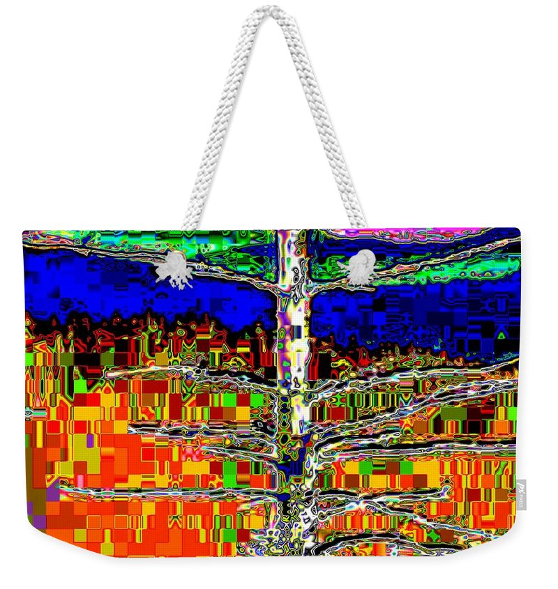Valley Weekender Tote Bag featuring the photograph Valley View 2 by Tim Allen