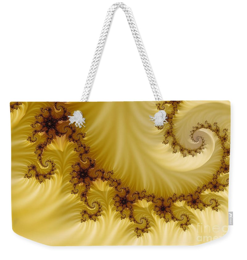 Clay Weekender Tote Bag featuring the digital art Valleys by Clayton Bruster