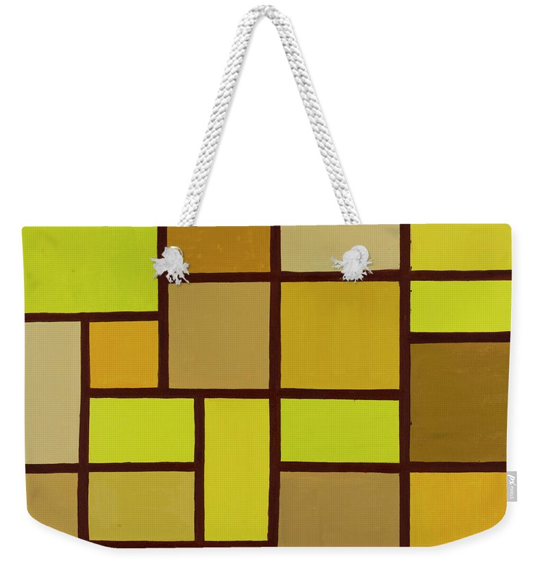 Valuable Earth Weekender Tote Bag featuring the painting Valuable Earth by Adamantini Feng shui