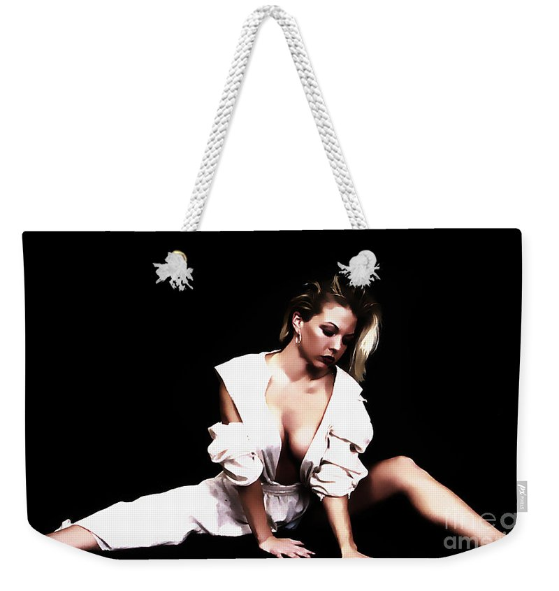 Clay Weekender Tote Bag featuring the photograph Vamp by Clayton Bruster