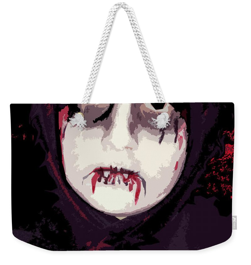Vampire Weekender Tote Bag featuring the photograph Vampire II by Rhonda Chase