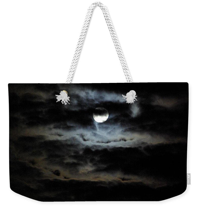 Moon Weekender Tote Bag featuring the photograph Vampire Skies by Cindy Johnston