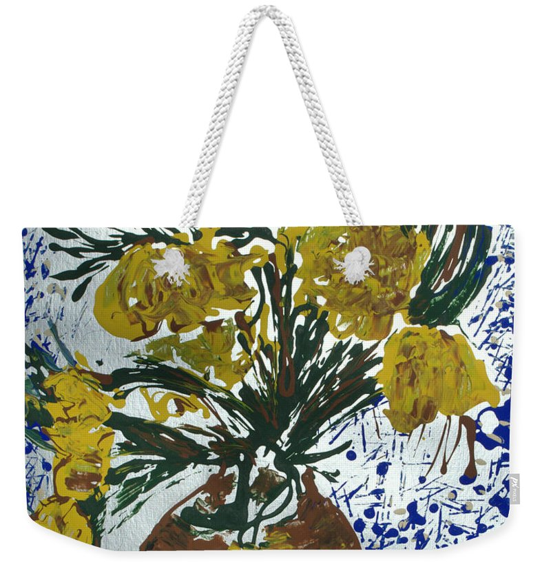 Flowers Weekender Tote Bag featuring the painting Van Gogh by J R Seymour
