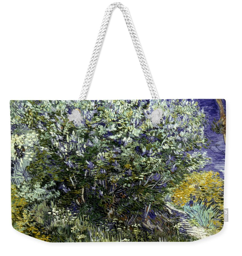 19th Century Weekender Tote Bag featuring the photograph Van Gogh: Lilacs, 19th C by Granger
