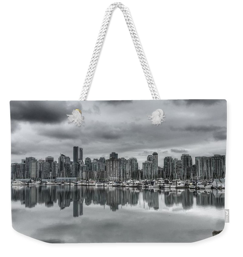 Vancouver Weekender Tote Bag featuring the photograph Vancouver Cityscape by Anne Sands
