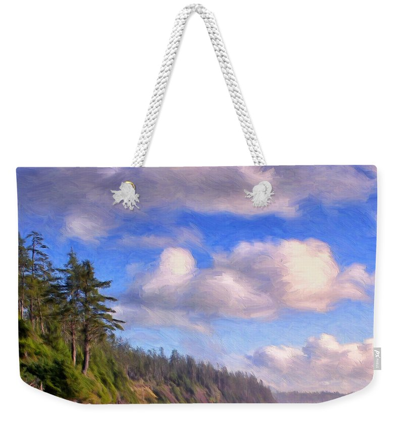 Vancouver Island Weekender Tote Bag featuring the painting Vancouver Island by Dominic Piperata