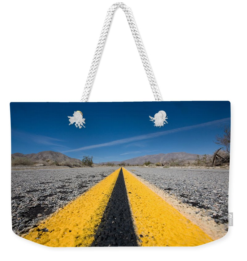Agua Caliente Weekender Tote Bag featuring the photograph Vanishing Point by Peter Tellone