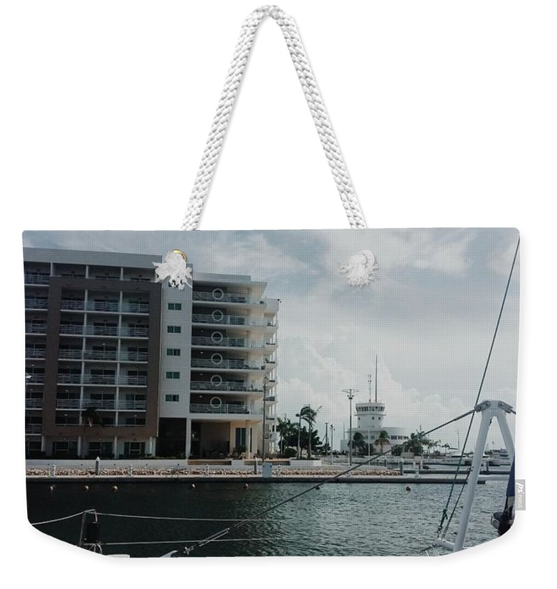 Cuba Weekender Tote Bag featuring the photograph Varadero Marina by Eloviano Maya
