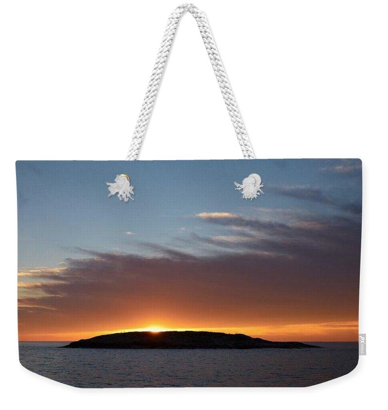 Lehtokukka Weekender Tote Bag featuring the photograph Variations Of Sunsets At Gulf Of Bothnia 1 by Jouko Lehto
