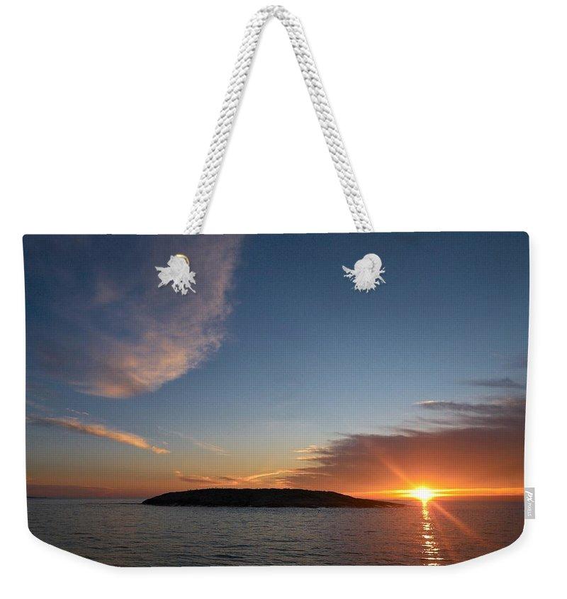 Lehtokukka Weekender Tote Bag featuring the photograph Variations Of Sunsets At Gulf Of Bothnia 2 by Jouko Lehto