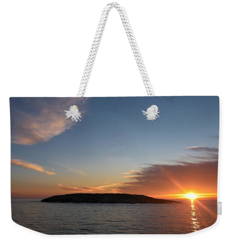 Lehtokukka Weekender Tote Bag featuring the photograph Variations Of Sunsets At Gulf Of Bothnia 3 by Jouko Lehto