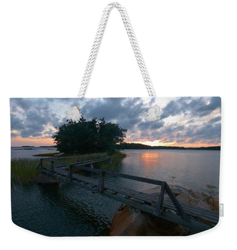 Lehtokukka Weekender Tote Bag featuring the photograph Variations Of Sunsets At Gulf Of Bothnia 6 by Jouko Lehto