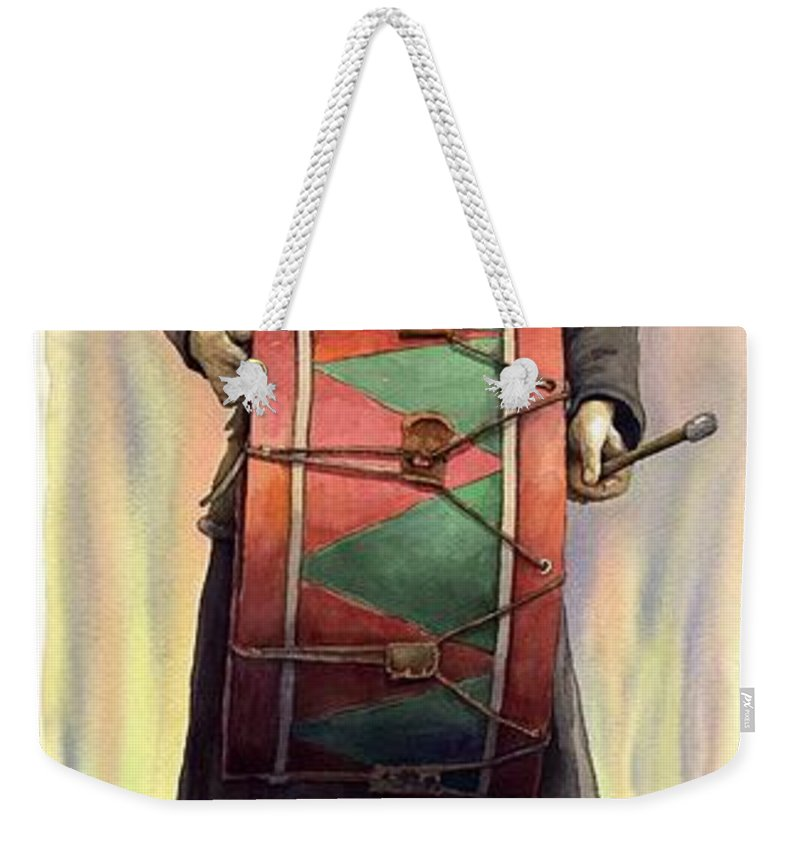 Watercolor Weekender Tote Bag featuring the painting Varius Coloribus Abul by Yuriy Shevchuk