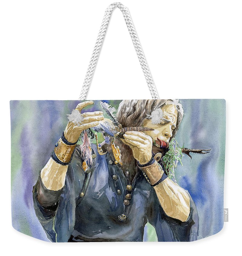 Watercolor Weekender Tote Bag featuring the painting Varius Coloribus by Yuriy Shevchuk