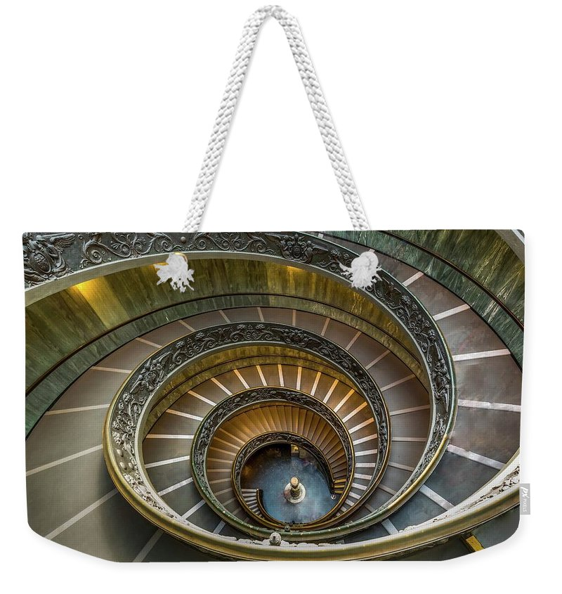 Vatican Weekender Tote Bag featuring the photograph Vatican Staircase by Mike Houghton BlueMaxPhotography