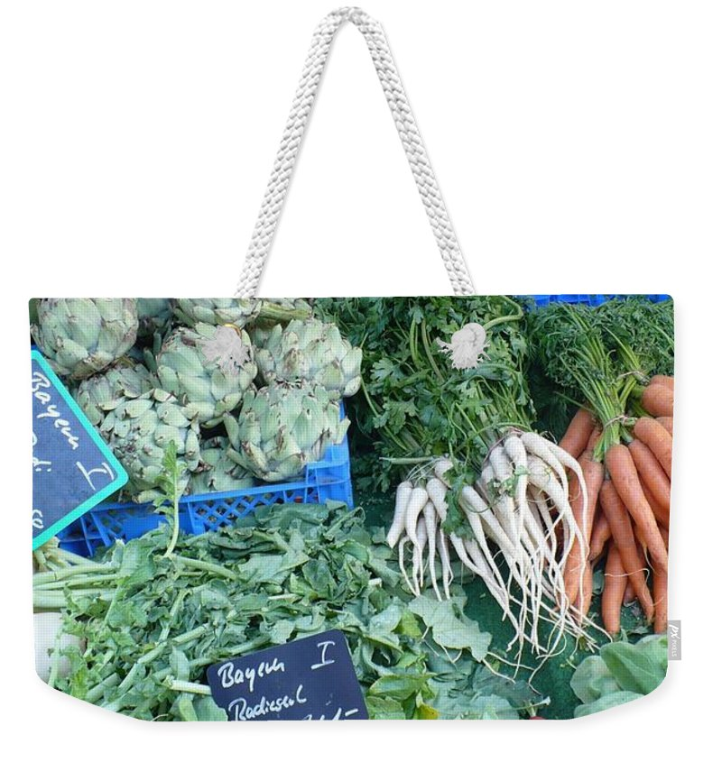 European Markets Weekender Tote Bag featuring the photograph Vegetables At German Market by Carol Groenen